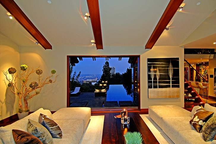 View from Calvin Harris's new celebrity house