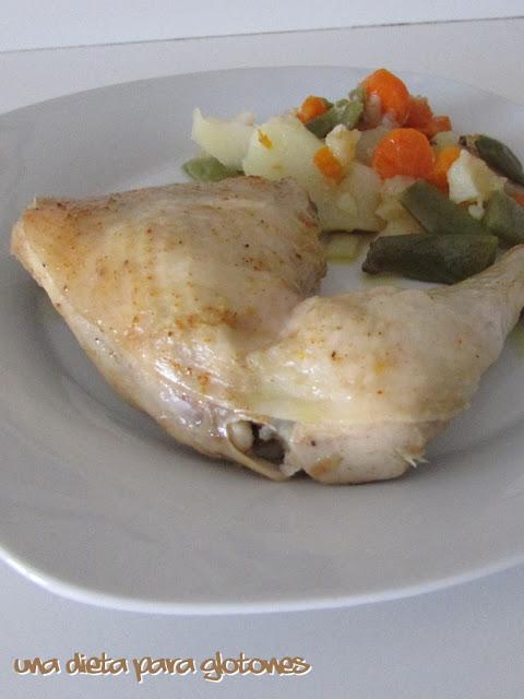 Pollo a la cazuela (en slow cooker)