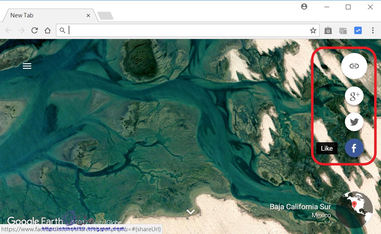 Earth View 擴充功能俯瞰地球美景