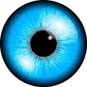 Imagen de un ojo azul que representa el ojo turco contra el mal de ojo