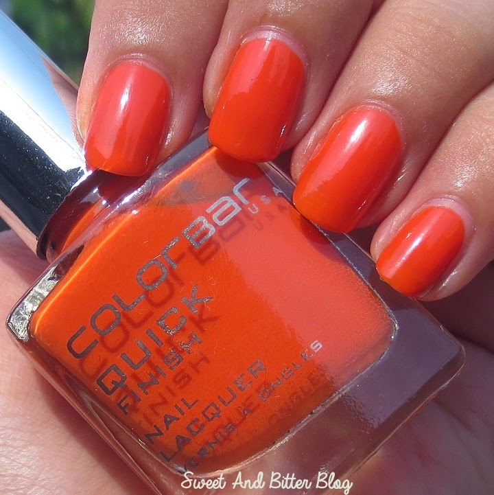 Colorbar Tinkly Orange Quick Finish Nail Lacquer Review Swatch