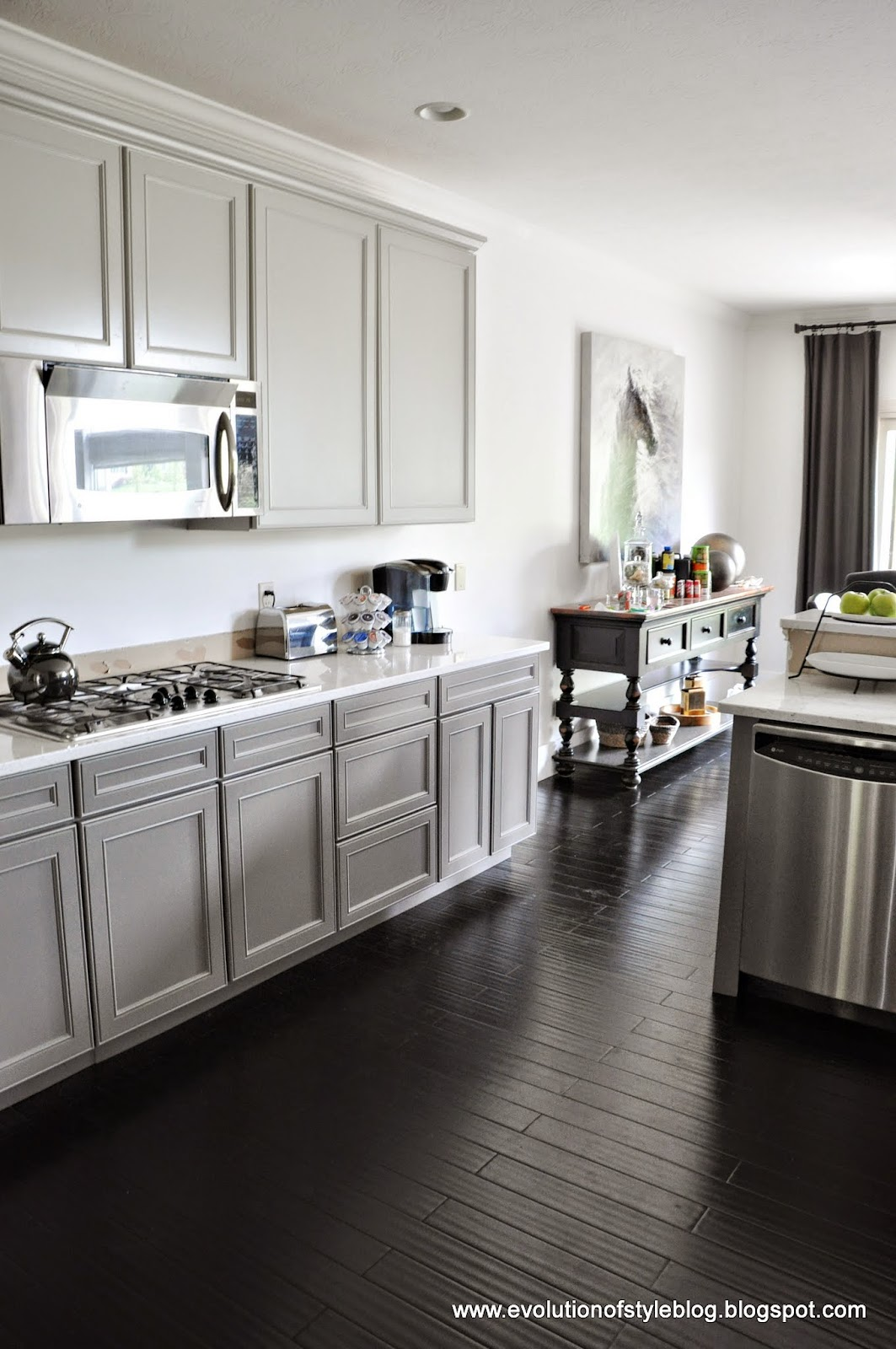 Painted Cabinets in Repose Gray and Gauntlet Gray ...