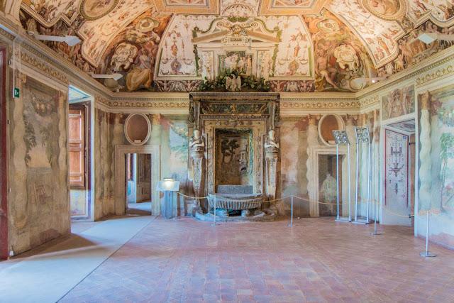 Interior da Villa d'Este em Tivolo