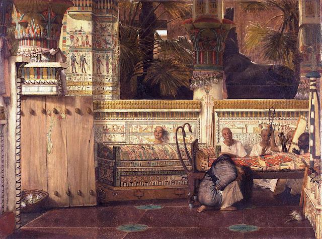 The Egyptian widow - Lourens Alma Tadema