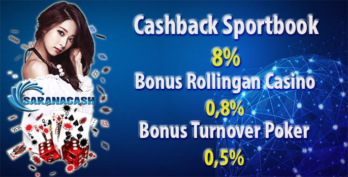 Cashback, Rollingan dan Turnover