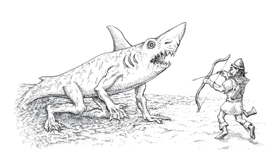 Wereshark attacks Bardan! by Chris Holmes 2012