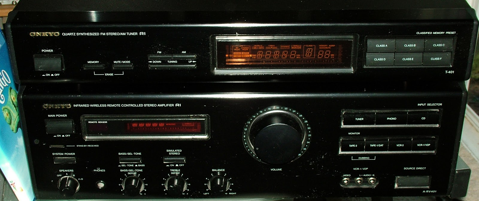 Older ONKYO finds replace modern SONY receiver in here
