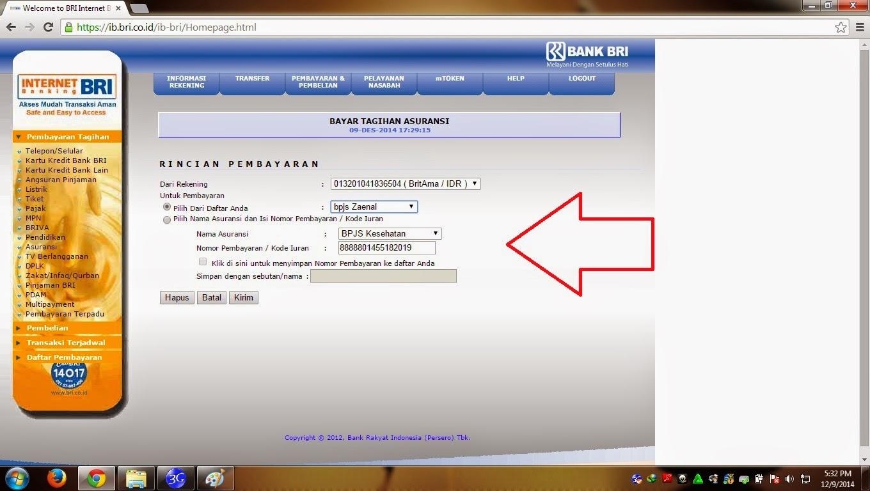 Cara Membayar BPJS Melalui Internet Banking BRI