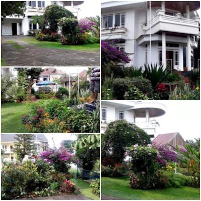 taman dan fasilitas villa putih kota batu