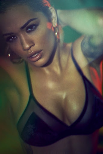 Rita Ora hot in sexy lingerie Vanity Fair Italy magazine photoshoot