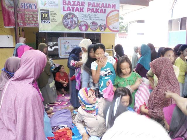 Wow ! Bazar Pakaian Layak Pakai BPKK PKS Medan Johor Diserbu Masyarakat