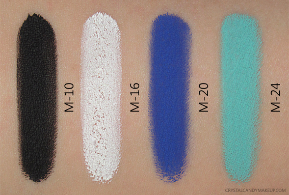 Make Up For Ever Aqua XL Color Paint M-10 M-16 M-20 M-24 Swatches