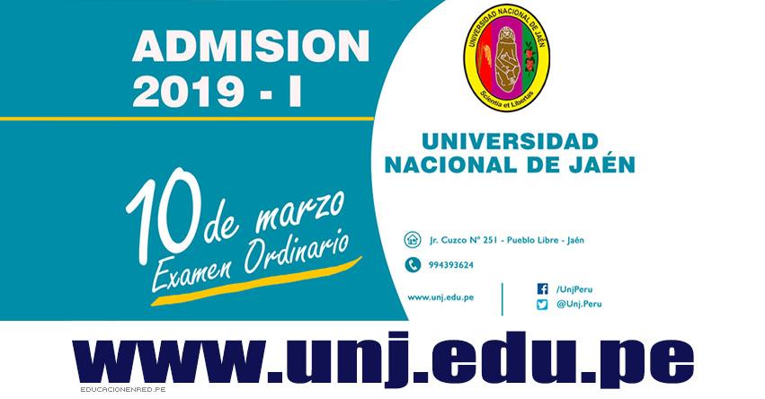 Resultados UNJ 2019-1 (Domingo 10 Marzo) Lista de Ingresantes - Examen Admisión Ordinario - Universidad Nacional de Jaén - www.unj.edu.pe