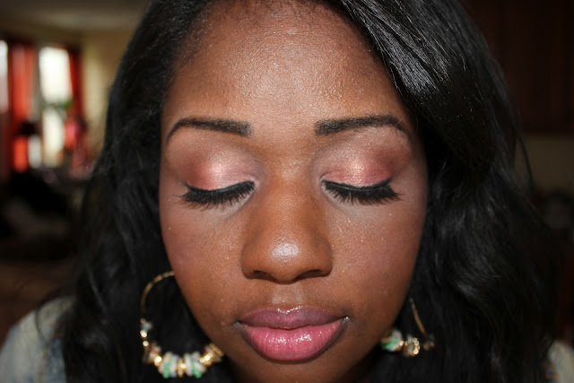 pink eyeshadow tutorial for brown eyes.