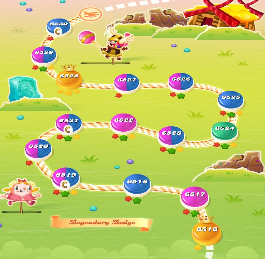 Candy Crush Saga level 6516-6530