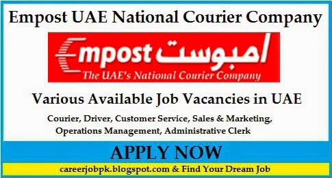 Driver Courier Jobs in Empost UAE National Courier Company