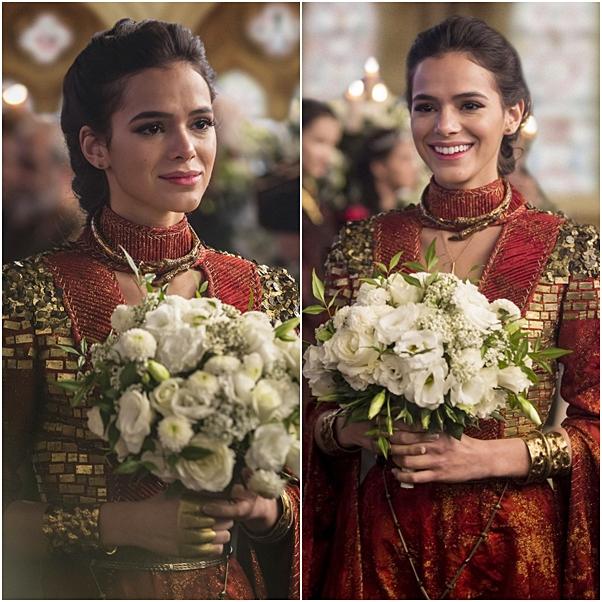 vestido de noiva e buque catarina deus salve o rei