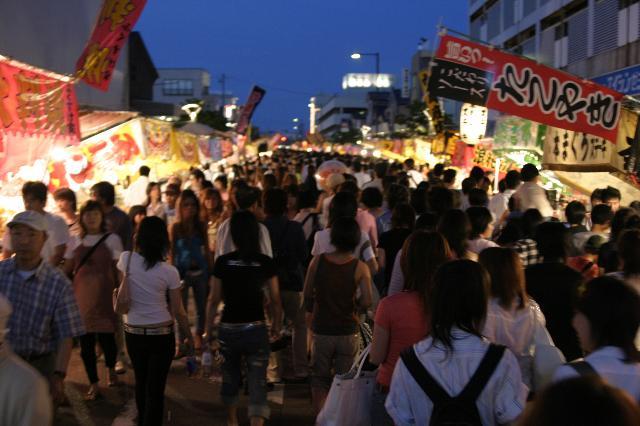 Enma Ichi (night market), Kashiwazaki City, Niigata Pref.