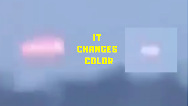 The UFO has changed it's appearance by changing it's colour.
