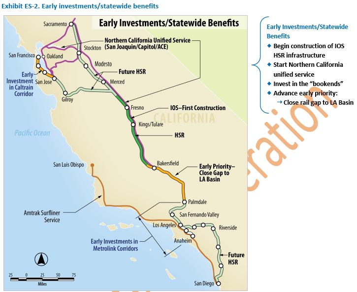 Revised California High Speed rail budget at $68 4 billion