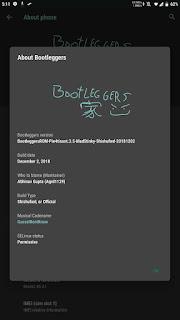 Rom Bootleggers V3 5 Pie 9 0 for Xiaomi MI A1 tissot