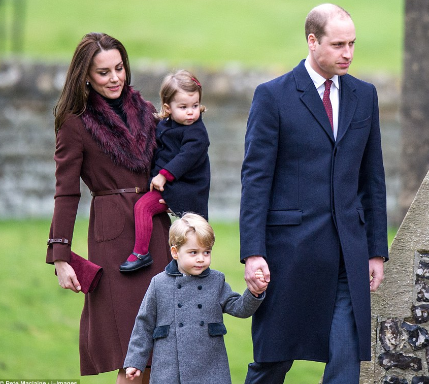 Stepped Out With Their Children Prince George And Princess Charlotte For A Christmas Morning Church Service This Comes As Other Members Of The Family