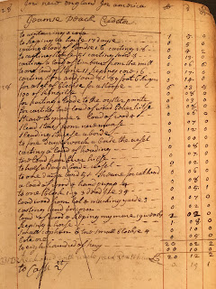 Page of Wheelock's account book
