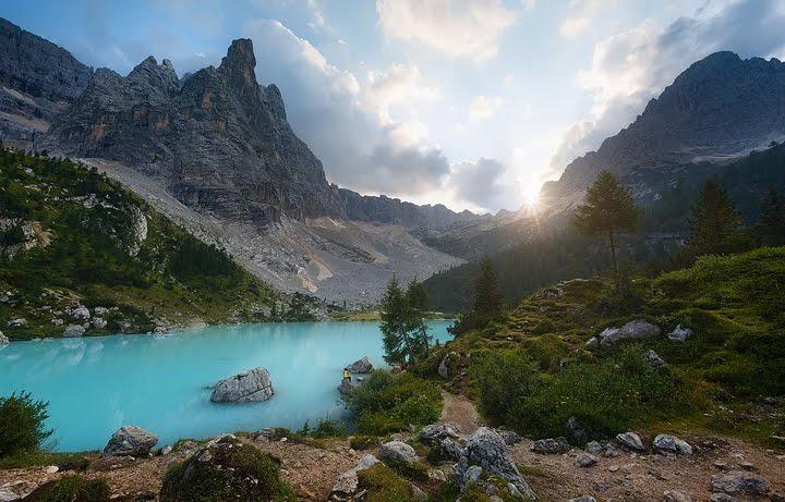 göl ve dağ manzara resimleri
