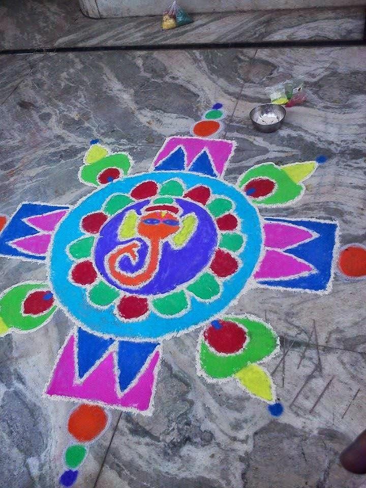 Kolam for Diwali 8