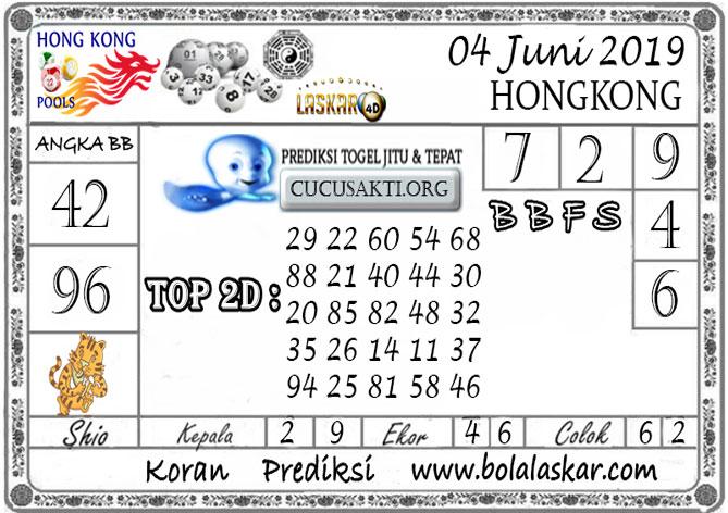 Prediksi Togel HONGKONG LASKAR4D 04 JUNI 2019