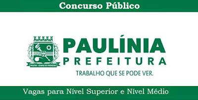 Apostila Concurso Prefeitura de Paulínia pdf, impressas e digitais Grátis CD para todos os cargos