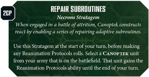 Estratagemas Necrones