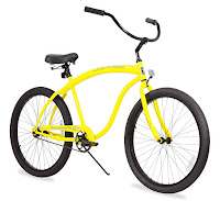 Firmstrong Bruiser Man Beach Cruiser Bike, Yellow
