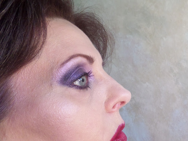 smokey purple eyes