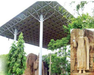 Awkana Buddha statue in danger ... because of newly-constructed roof!