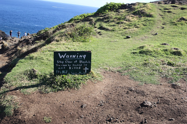 Nakalele Blowhole warning