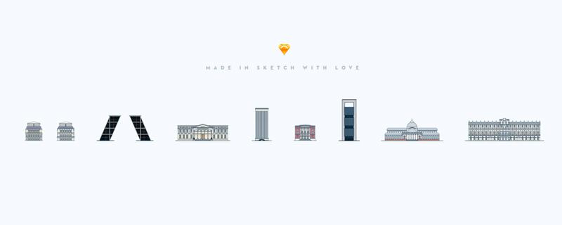 Arquitectura madrileña vectorizada