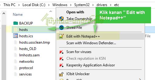 edit host file