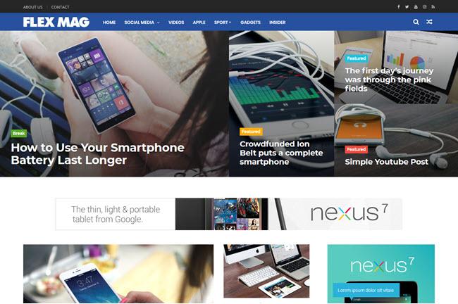 FlexMag - Responsive Magazine Blogger Template