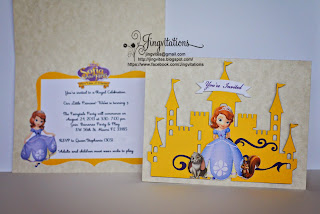 princess sofia the first princess birthday invitations