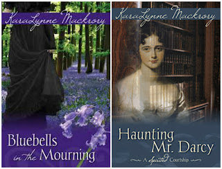Book Covers: Bluebells in the Mourning and Haunting Mr Darcy by KaraLynne Mackrory