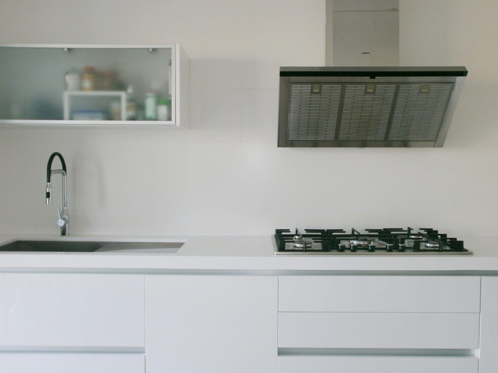 El blanco en la cocina una apuesta segura cocinas con for Barra para armario sin agujeros