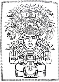 Mayan mandala coloring pages