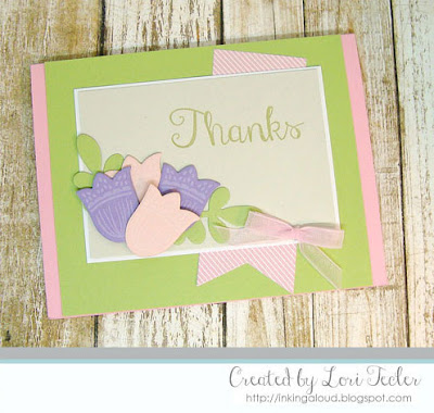 Floral Thanks card-designed by Lori Tecler/Inking Aloud-stamps and dies from Reverse Confetti