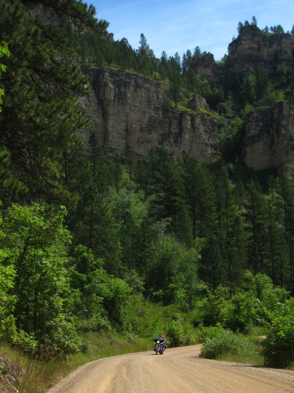 road to roughlock falls south dakota black hills motorcycle canyon spearfish canyon biker