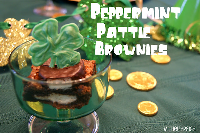 Peppermint Brownies @michellepaigeblogs.com
