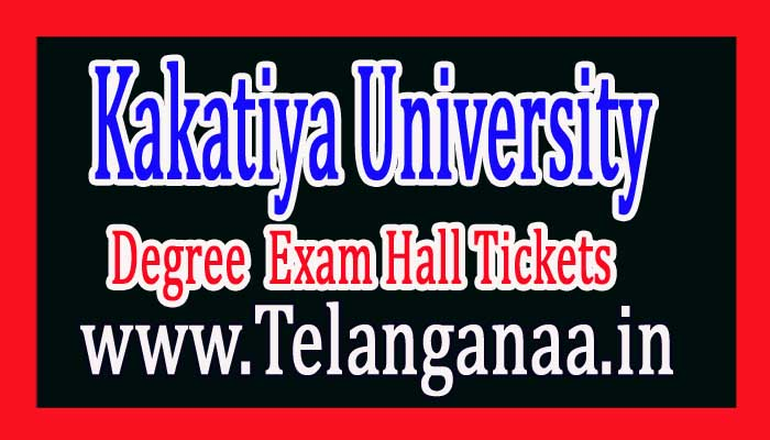 Kakatiya University KU Degree 1st Sem Exam Hall Tickets 2016