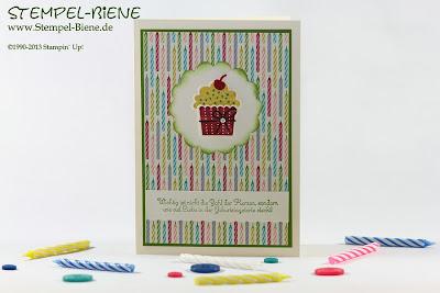 Geburtstagstörtchen, Geburtstagsbasics, Einladungskarte Kommunion; Geburtstagskarte Mann; Männerkarte; Männergeburtstagskarte; colorieren; scrapbooking; Stampin' write marker; Bigz Knallbonbon; Grußkarte; Scrapbook; Stempel-biene; stampin' up; Stampin' up recklinghausen; Workshops; Prägeform Blumenranke; www.stempel-biene.de; Karten basteln stampin' up, basteln stampin up, workshop stampin up, sammelbestellung, stempelparty, 720 euro party, Stempel-biene Recklinghausen, stempelbiene recklinghausen, Anleitung Bigz L Knallbonbon, Hochzeitskarte, Kommunionkarte;
