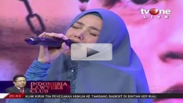Tampil di ILC, Mulan Jameela Menangis saat Nyanyikan Lagu Kangen