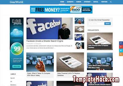 gear world blogger template